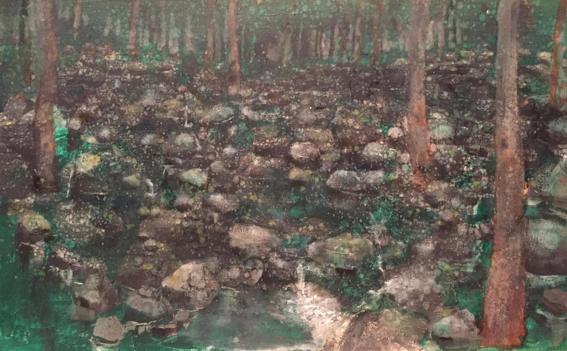 風景(手稲) | アクリル、油彩、木板 600mm×450mm | 2016