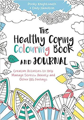 Book cover of 'The Healthy Coping Colouring Book and Journal' Knightsmith and Hamilton (2017)