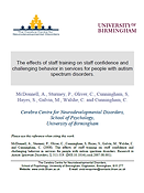 the effects of staff training on confidence Mcdonnell