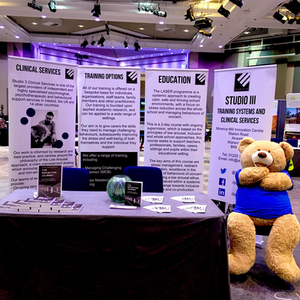 Studio 3 Stall at the NAS Autism Professionals Conference, Birmingham, February 2020