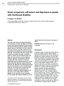 social comparison, self-esteem and depressionin people with intellectual disabilities Dagnan and Sandhu