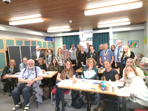 Group of first ever LASER delegates at the Seashell Trust in Stockport, January 2020
