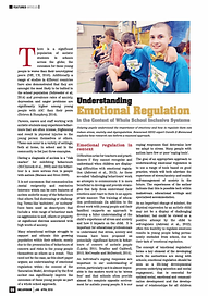 Understanding Emotional Regulation in the context of Whole-School Inclusive Systems Morewood
