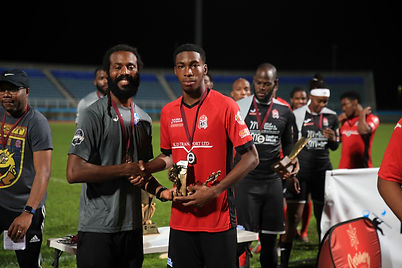 Tyrese Spicer receives Golden Boot from
