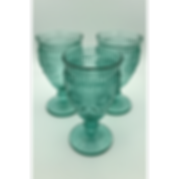 Turquoise Green Goblets