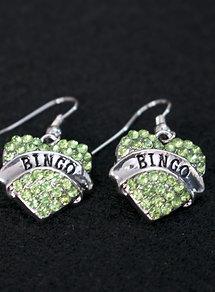 Bingo Heart Earrings