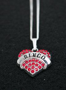Bingo Heart Crystal Necklace