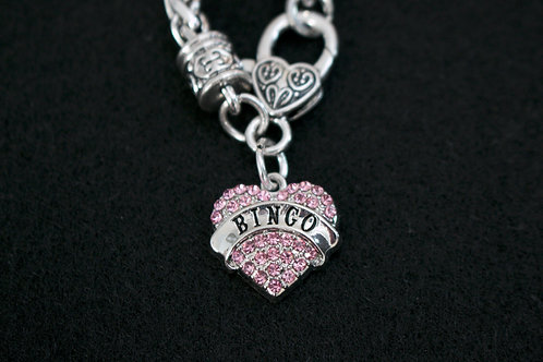 Bingo Heart Crystal Bracelet