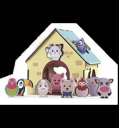 Passa figuras - Animais da fazenda