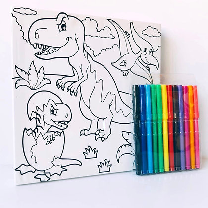 Tela pinta apaga - Dinossauros