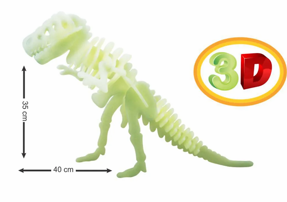 Quebra-cabeça Tiranossauro Rex que brilha no escuro