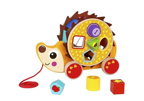 Ouriço de Puxar - em Madeira - Brinquedo Educativo