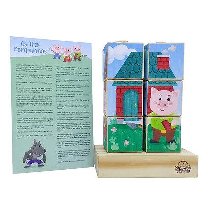 Quebra-cabeça Cubos Os Três Porquinhos