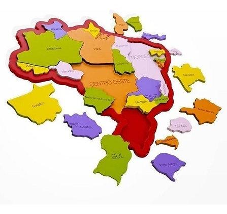 Quebra cabeça mapa do Brasil