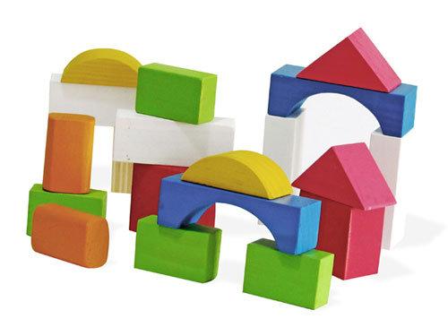 Carro blocos coloridos