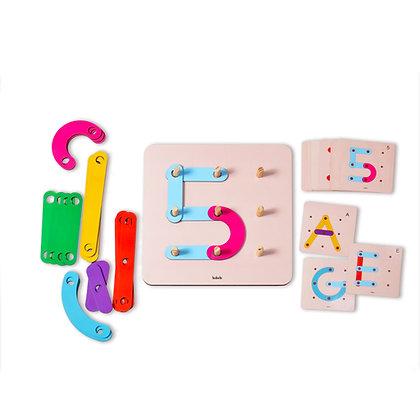 Formas Mágicas- Brinquedo Educativo - Alfabetização- Babebi