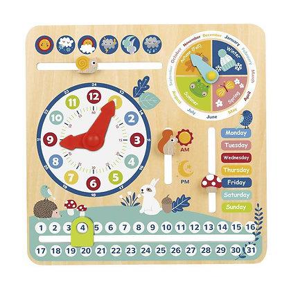 Calendário de Madeira em Inglês - Brinquedo Educativo