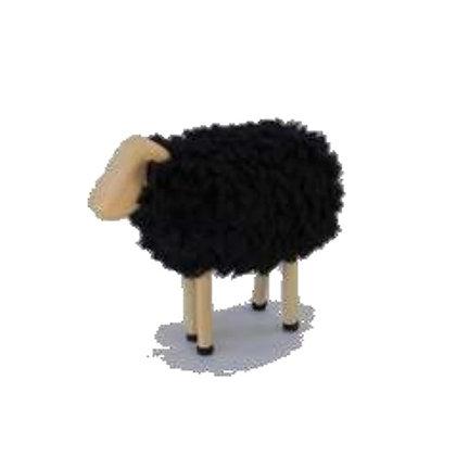 Ovelha de madeira - preta