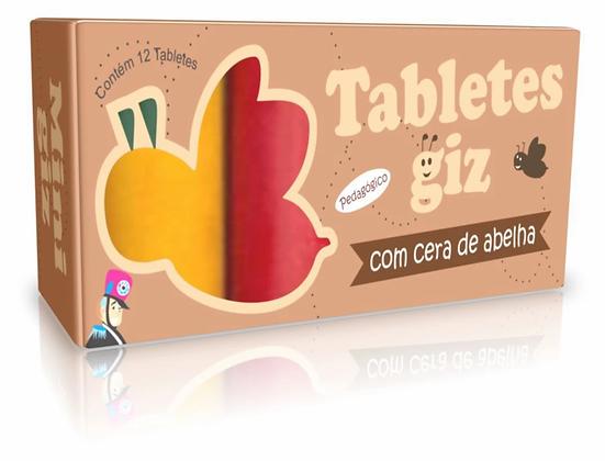 Tabletes de cera c/ 12 cores