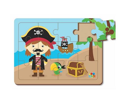 Quebra cabeça 12 peças - Pirata Jack