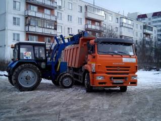 Уборка и вывоз снега - работаем и днём, и ночью