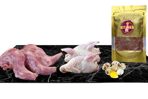 Quail and Rabbit with quail eggs