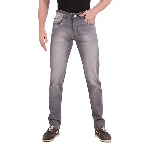 Stylox Men Slim Fit Mid Rise Grey Jeans 5901-1607