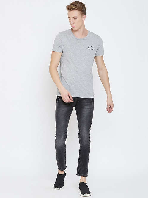 Stylox Men Slim Fit Mid Rise Black Jeans 5904-1544
