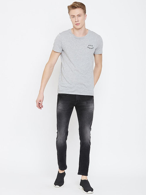 Stylox Men Slim Fit Mid Rise Black Jeans 5904-1543