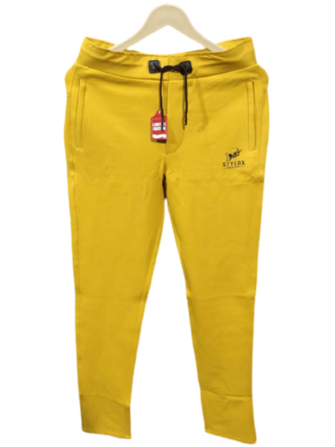 STYLOX Yellow Stretchable Lycra Trackpant for Men 5006