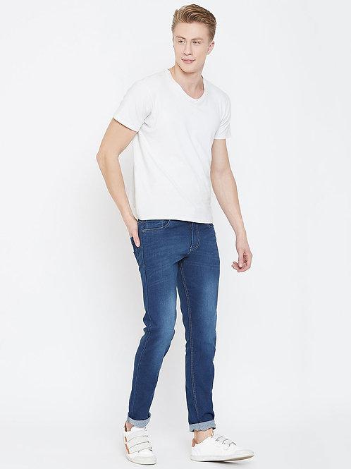 Stylox Men Slim Fit Mid Rise Dark Blue Jeans 5901-1528