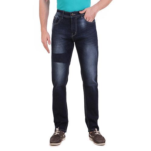Stylox Men Slim Fit Mid Rise Dark Blue Jeans 5201-1636