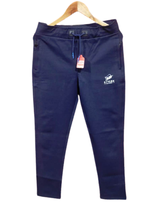 STYLOX Blue Stretchable Lycra Trackpant for Men 5008