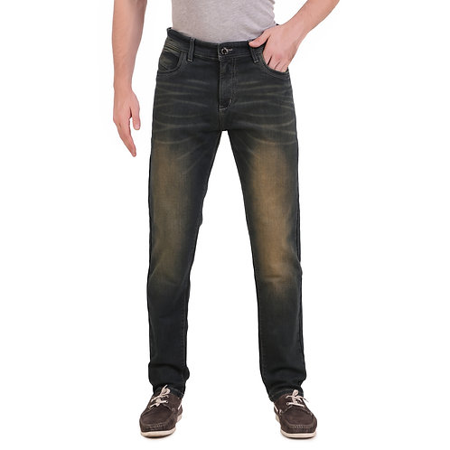Stylox Men Slim Fit Mid Rise Green Jeans 5901-1620