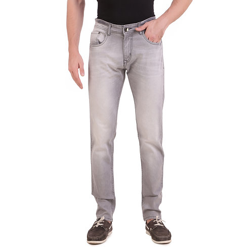 Stylox Men Slim Fit Mid Rise Light  Grey Jeans 5901-1609
