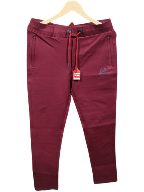 STYLOX Maroon Stretchable Lycra Trackpant for Men 5003