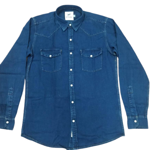 STYLOX Blue Denim Shirts for Men 4011