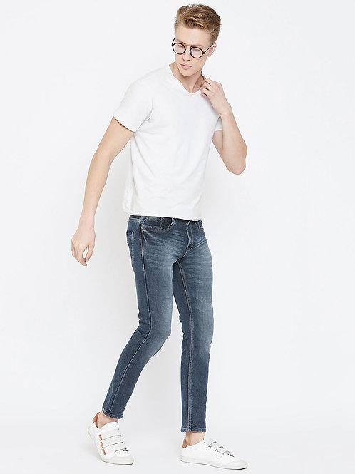 Stylox Men Ankle Length Mid Rise Blue Jeans 5904-1553
