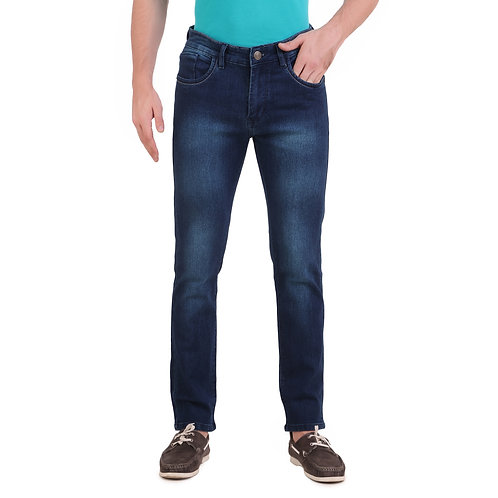 Stylox Men Slim Fit Mid Rise Dark Blue Jeans DM-2015