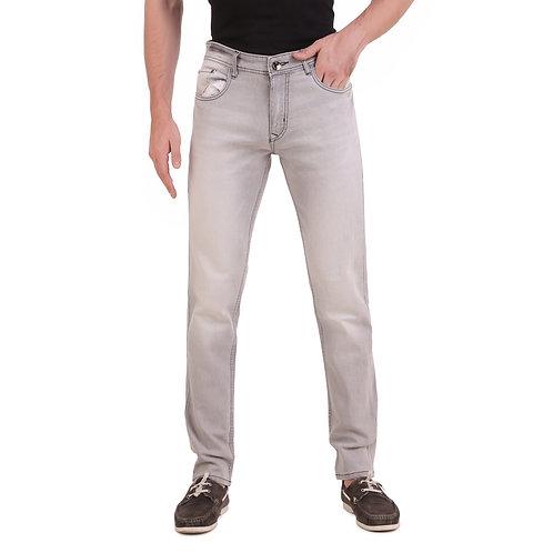 Stylox Men Slim Fit Mid Rise Light  Grey Jeans 5901-1608