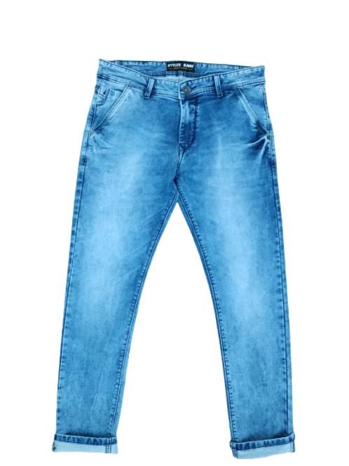 Stylox Men Slim Fit Mid Rise Light Blue Jeans 5101-1674