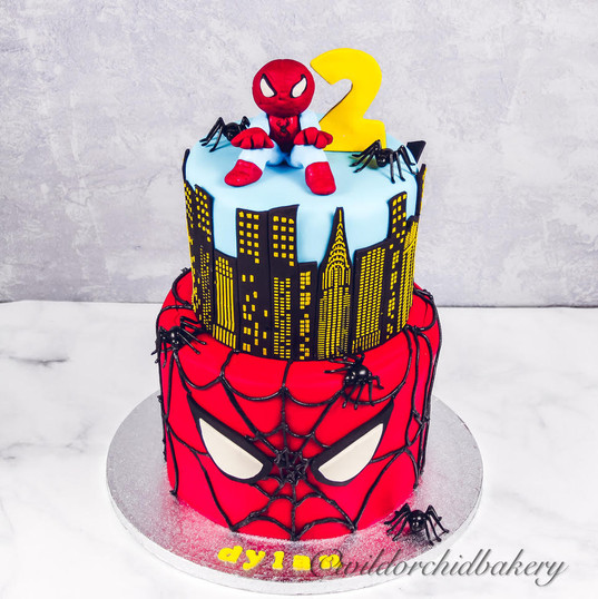 Custom Spider Man Cake from Wild Orchid