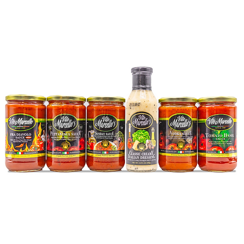 6 Pack of Sauces & Dressing