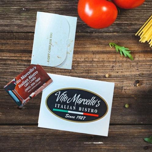 Bistro Gift Card (min. $25)