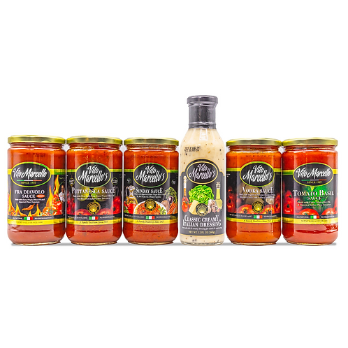 7 Pack of Sauces & Dressing