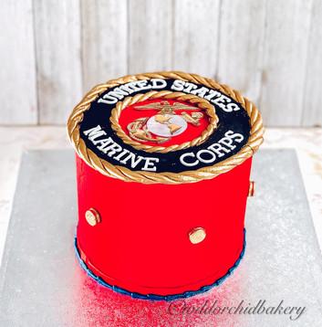 Marine Corp Birthday Cake