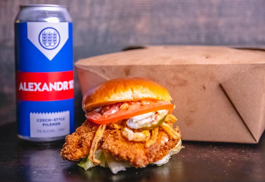 Renegades Chicken Sandwich and Schilling
