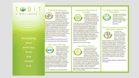 TOBIT WELLNESS BROCHURE