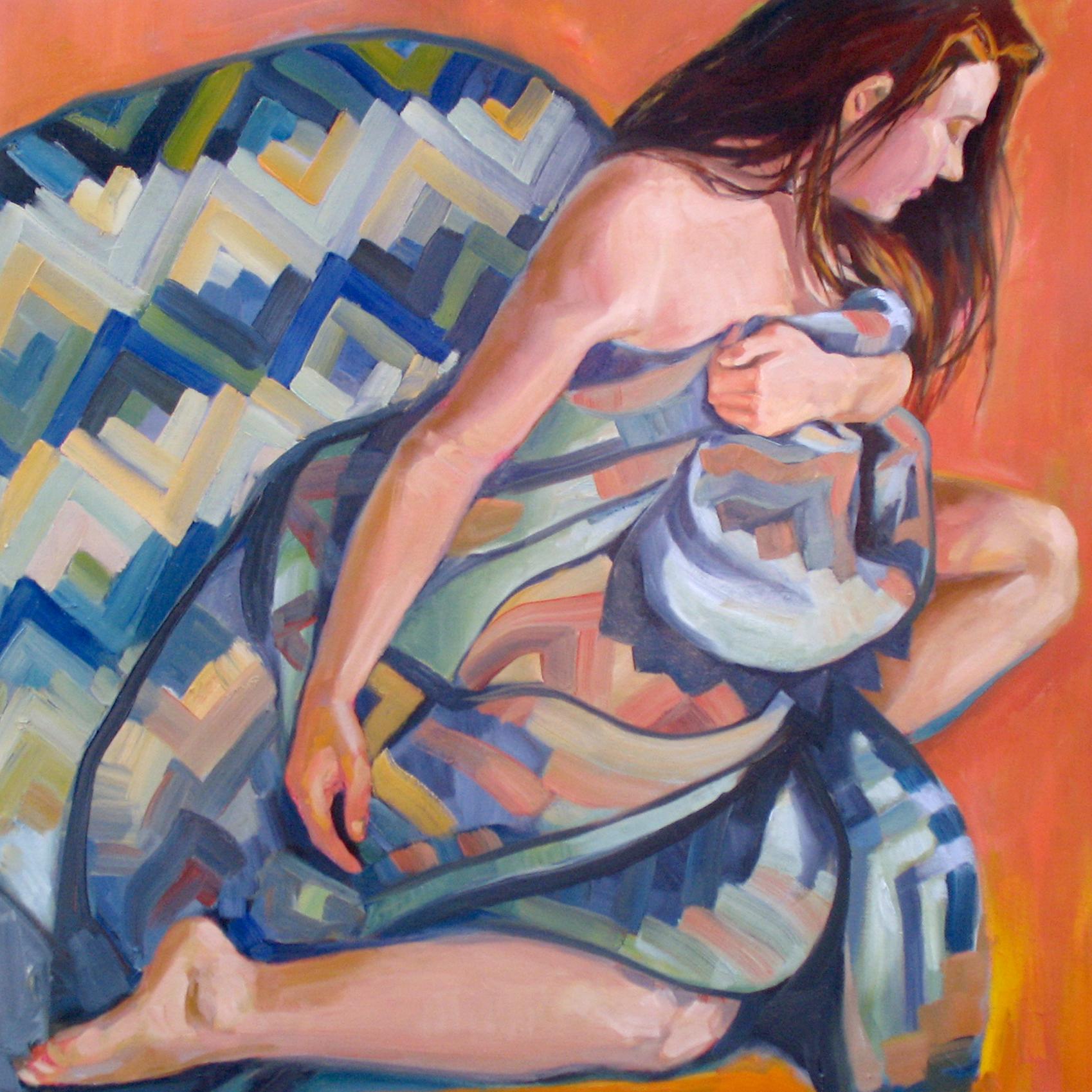 Girl in a Blanket