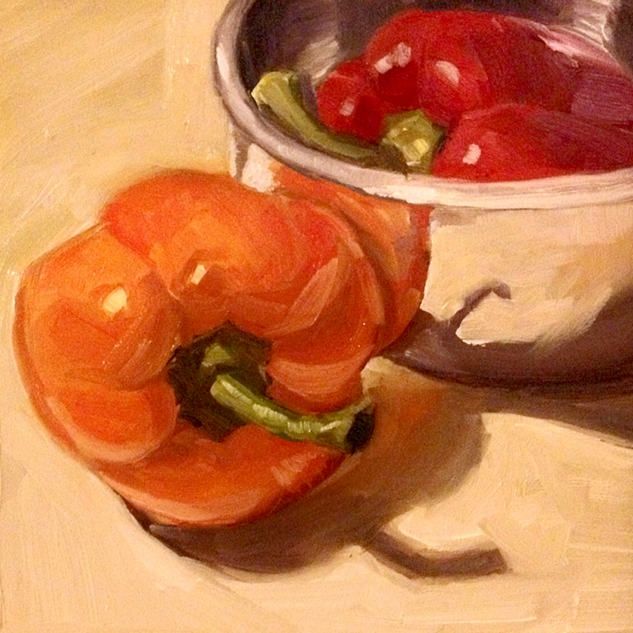 Peppers Orange Red